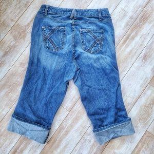 Lane Bryant Jeans - Lane Bryant Cropped Cuffed Jeans